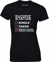 Brand88 - Mentally Dating Garrus Vakarian, Ladies Printed T-Shirt