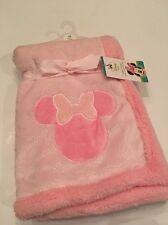 Disney Minnie Mouse Baby Girls Blanket Layette Pink Super Soft Sherpa 30x30