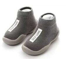 Fashion solid color baby sock shoes rubber pre-walker kid sock anti-slip