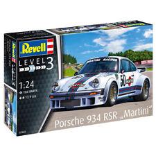 """Revell Porsche 934 RSR """"Martini"""" Race Car Model Kit (Level 3) (Scale 1:24)"""