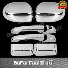 For 2007-2014 2015 2016 Jeep Compass Chrome Mirrors Covers + Door Handle Combo