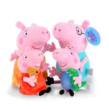 PEPPA PIG  SET 4 PELUCHE  19- 30 cm COTONE SERIE TELEVISIVA