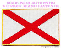 ALABAMA STATE FLAG PATCH EMBROIDERED SYMBOL APPLIQUE w/ VELCRO® Brand Fastener