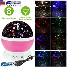 Starry Projector Light Constellation 360° Rotating Moon Romantic Lamp Kids Gift
