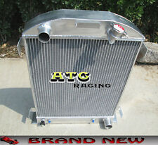 3 Core Aluminum Radiator for 1932 FORD HI-BOY Grill Shells CHEVY ENGINE 32