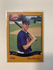 Joe Mauer 2002 Topps Rookie Card RC #622 Twins