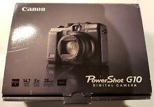 Canon PowerShot G10 14.7MP Digital Camera - Black, case and 8Gb SD card