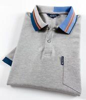 Ben Sherman Polo Shirt Men's Regular Fit Grey Marl Colour Block Collar 0062869G