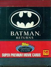 1991 BATMAN RETURNS: SUPER PREMIUM MOVIE CARDS! KODAK TOPPS STADIUM CLUB WAX BOX