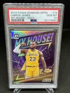 2019/20 Panini Donruss Optic #13 LeBron James My House! Holo PSA 10 Lakers
