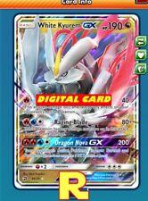 White Kyurem GX - Regular - for Pokemon TCG Online (DIGITAL ptcgo in Game Card)