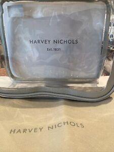 Harvey Nichols ❤️ Grey Transparent/Clear Zip Up Makeup Bag + HN Drawstring Bag