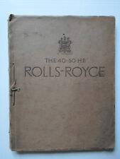 ROLLS ROYCE PHANTOM II 40-50HP 1933 LUXURY STRING TIED SALES BROCHURE CATALOGUE