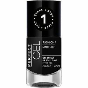 Perfect Gel Nail Polish Effect Gel Step 1 N°2624 Midnight Black 10 ML New