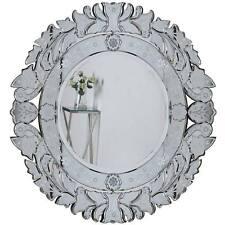 VENETIAN GLASS MIRROR runder SPIEGEL Ø=100cm ital. MURANO-STIL VILLA WANDSPIEGEL