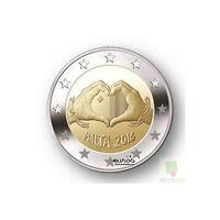 2 euros commémorative Malte 2016 - Love - 350 000 exemplaires - Qualité UNC