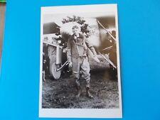 CHARLES LINDBERGH  POST CARD AIRPLANE 4 1/4 X 6 BW BLACK AND WHITE