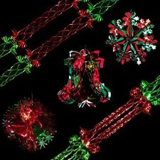 snow white christmas foil ceiling decorations red green choose