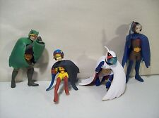 LOT OF 4 GATCHAMAN BATTLE OF THE PLANETS PVC FIGURES MARK JASON TINY KEYOP