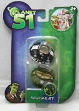 Movie 'Planet 51' Mini Vehicle Figures : 'Police Car & ATV' by Jazwares 2009