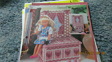 FASHION DOLL WINDOW SEAT BOOKEND IN PLASTIC CANVAS