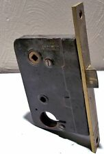 Hauserman Interiors door lock with solid brass plate_4601/9