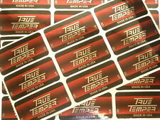 NEW ( 9 ) TRUE TEMPER GOLF CLUB SHAFT BAND LABELS STICKERS REGULAR OR STIFF