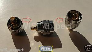 SMA Female to UHF Male PL259 Jumper Plug Adapter, RADIO, RF Cable Connect USA