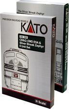 "KATO 106-090 N CB&Q ""SILVER STREAK"" 6 PC BOOKCASE SET (DC)"