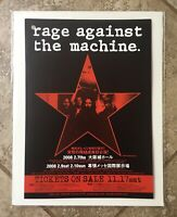 RAGE AGAINST THE MACHINE 2008 Japan Mini Concert Poster