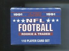 1991 Score ROOKIE & TRADED Football Set Aeneas Williams 110 Cards Factory Sealed