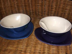 Mary Kay  Heart Shaped Porcelain Coffee/Tea Cup Saucer Set Blue & Purple.   4/00