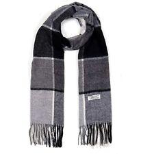 Mens Wool Scarf, Faurn Fashion Plaids Stripes Long Wool Warm Neck Scarves