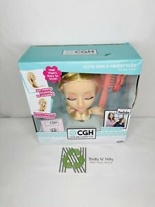 CGH Cute Girls Hairstyles! Styling Head - Straight Blonde Hair Doll YouTube