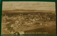 VINTAGE OLD LITHO BAKER CITY OREGON BIRDS EYE VIEW OF TOWN PC POSTCARD