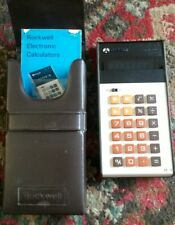 Rockwell 24RD Electronic Pocket LED Calculator Working with Case and Manual