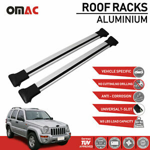 Roof Rack Cross Bars Luggage Carrier Silver fits Jeep Liberty KJ 2002-2007