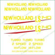 NEW HOLLAND LS 140 Die Cut High Cast Premium Vinyl Decals Stickers Kit Set