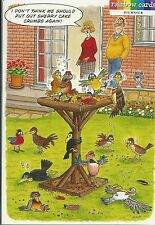 DRUNKEN BIRD TABLE FUNNY BIRTHDAY CARD HUMOROUS RAINBOW CARDS BY LING DESIGN