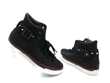 Converse Hi Chuck Taylor All Star Strap Suede Studded Shoes Goth Women's 8.5 NEW