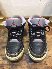 Nike Air Jordan 3 Retro Black/Varsity Red-Cement Grey 136064 010 Sz7 US Jump Man