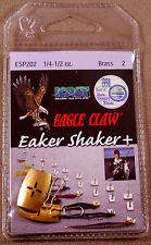 Eagle Claw Eaker Shaker + Snaps, Brass 2 each ESP202 1/4-1/2 oz. W/ Instruction