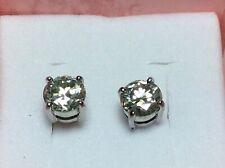 1.89ct White Moissanite Diamond 925 Silver Earrings