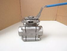 A-T Controls F55 Stainless Threaded 1 In Npt 800 Ball Valve 1000 Psi