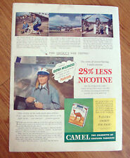 1941 Camel Cigarette Ad Marshall Headle Test Pilot 1941 Ballantine Ale Ad