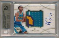 ANTHONY DAVIS 2012/13 IMMACULATE COLLECTION RC AUTO PATCH SP #/75 BGS 9.5 GEM 10