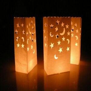 30 Stars White Candle Bag Lantern Garden Party Path Deck Balconey Wedding Event