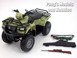 Suzuki Vinson QuadRunner (ATV) w/ Rifle and Bow 1/12 Scale Model - Hunting Camo