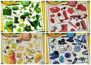 Crayola Puzzles 24pc World Of Colors 4 Puzzle Lot Red Green Yellow Blue NEW
