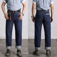 Red Wind Repro 702 Vintage Jeans Selvedge Denim High Rise Loose Fit Blue ONEWASH